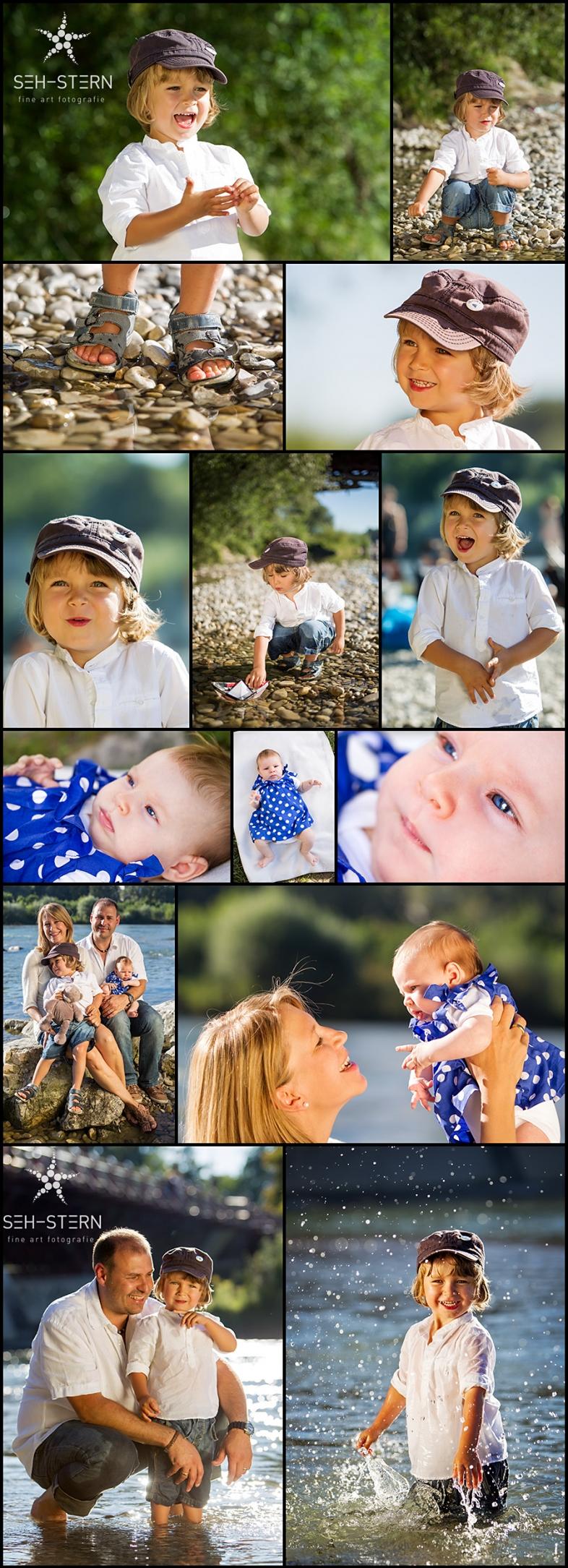 Lebendige Kinderfotos, Familienfotos und Babyfotos in München an der Isar von Familienfotografin und Kinderfotografin Marion Hogl