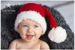 Babyfoto Weihnachtsmütze