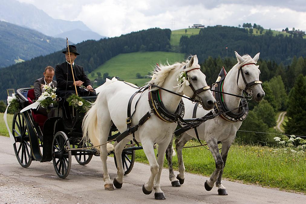 Hochzeitskutsche Flachau Österreich