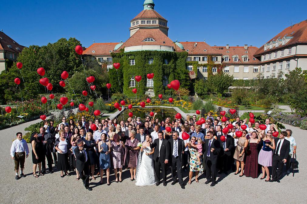 Gruppenbild Hochzeit Botanischer Garten