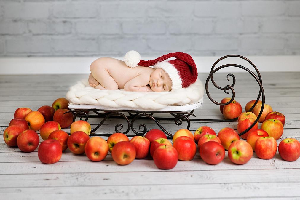 Neugeborenenfotos Weihnachten in München