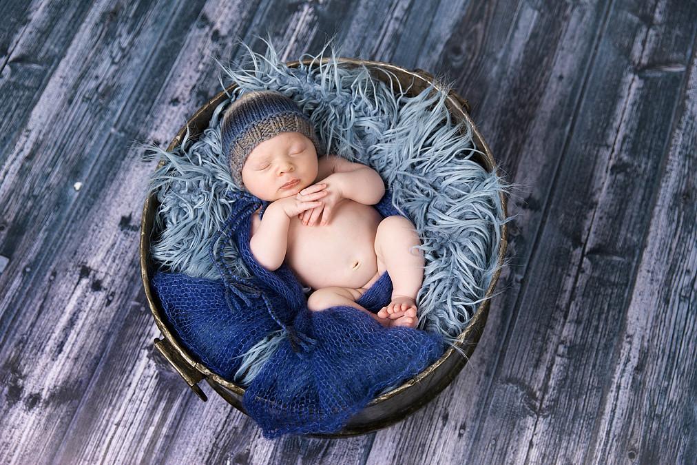 Zauberhafte Schlaffotos von Babys in München
