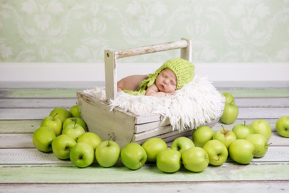 Niedliche Neugeborenenbilder in München