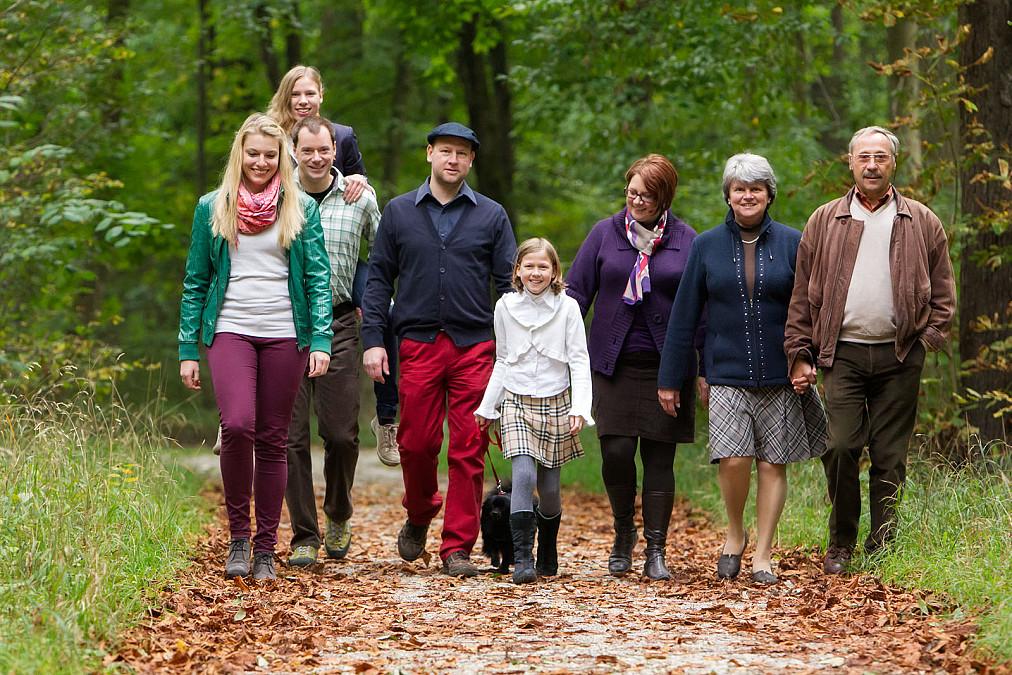 Familienfotos im Herbst Nymphenburg