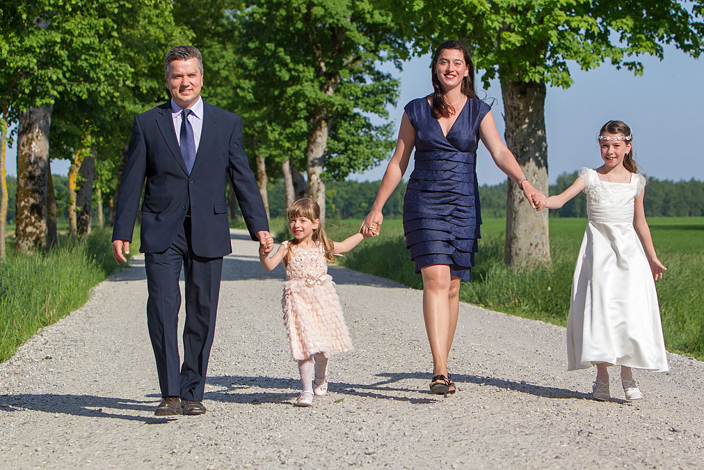 Familienfotos zur Kommunion Möschenfeld